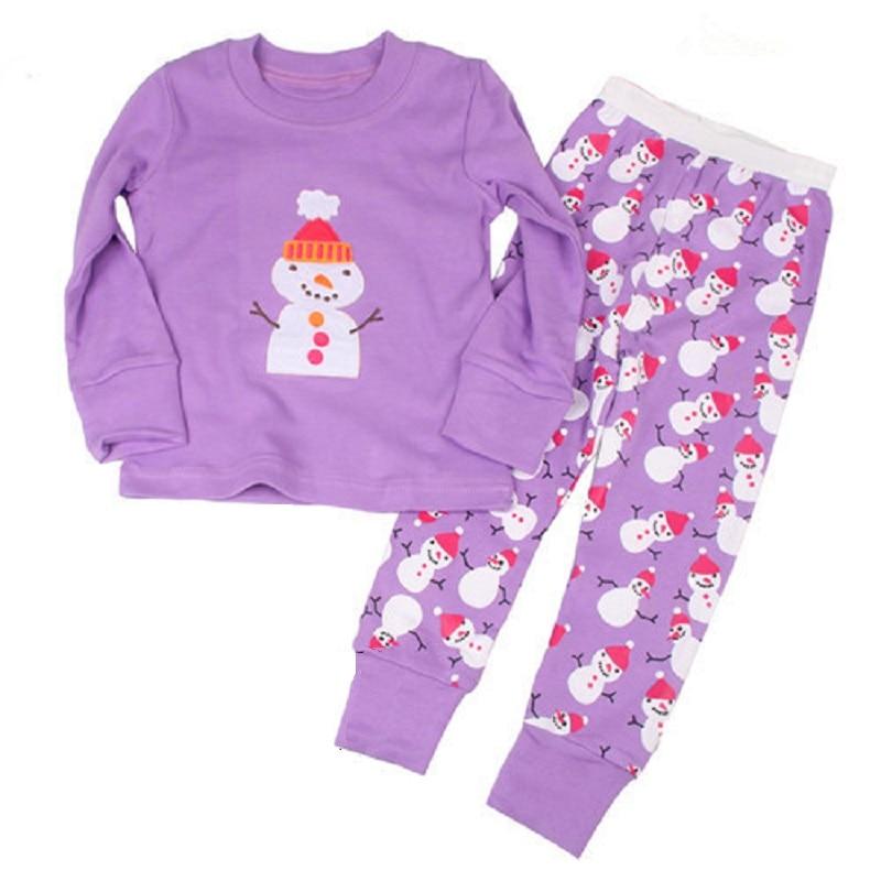 Hot Pink Cat Baby Girls Pajamas 100% Cotton Autumn Long Sleeve 2 3 4 5 6 7 Years Children PJ'S Boys Pijama Girl Home Clothes 5