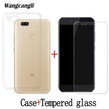 Wangcangli Phone case+tempered glass film for xiaomi mi a1 case Four angle air bag wrestling