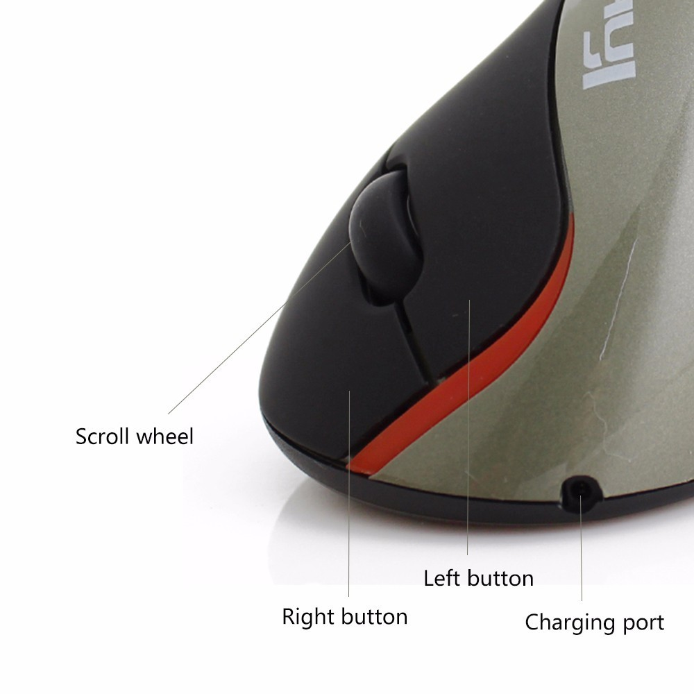 Rechargeable Wireless Mouse 1600DPI Ergonomic Vertical Optical Gamer Gaming Mouse Mause Built-in Battery for PC Computer Mice