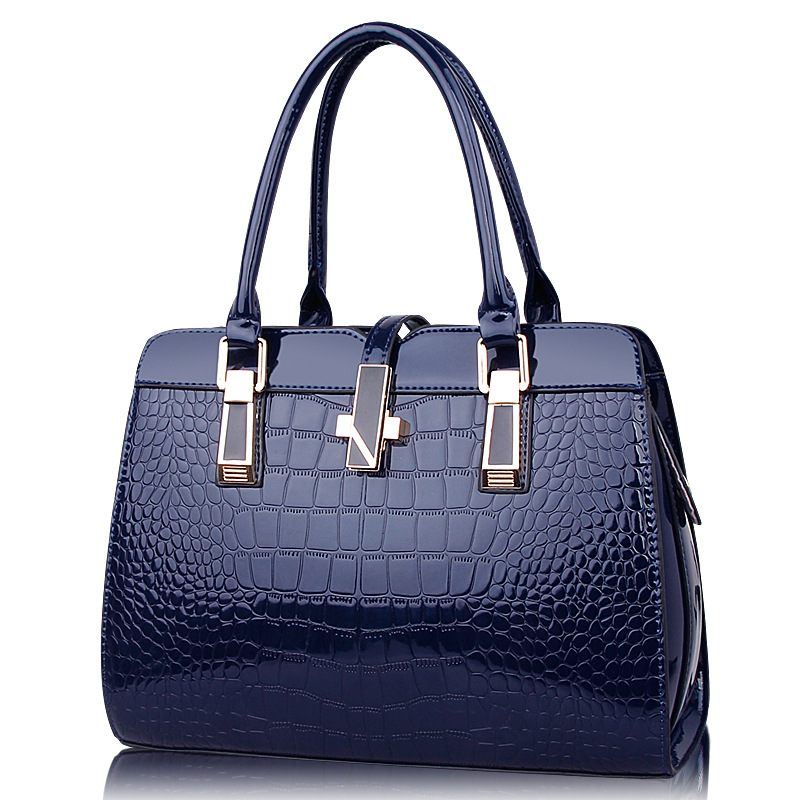 10 Colors Women Leather Handbag High Quality PU Leather Messenger Bags Crocodile Pattern Style Shoulder Tote Bags RT06