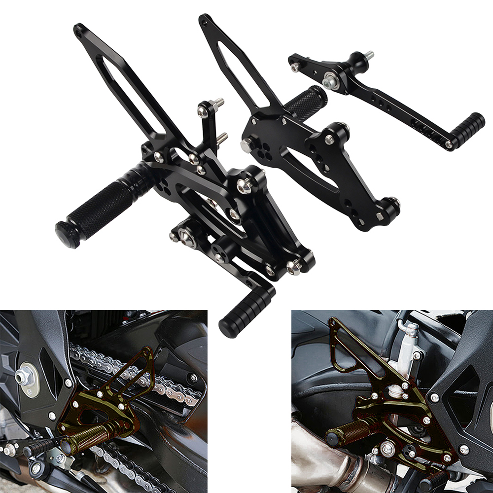 Motorcycle CNC Foot Pegs Rearset Footpeg Racing Rear Sets For BMW S1000RR S 1000 RR 2017 2018 2019