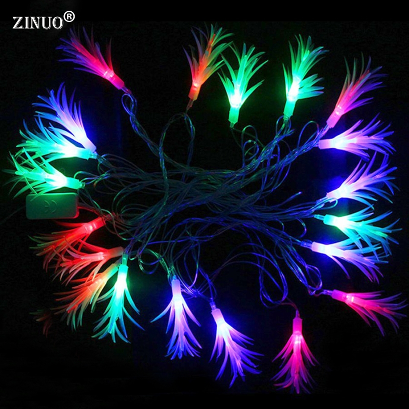 ZINUO 4M 20pcs Pinecone Garland String Fairy Light Outdoor Garden Patio Matsuba String Light For Christmas Party Wedding 220V 20pcs bulb string light
