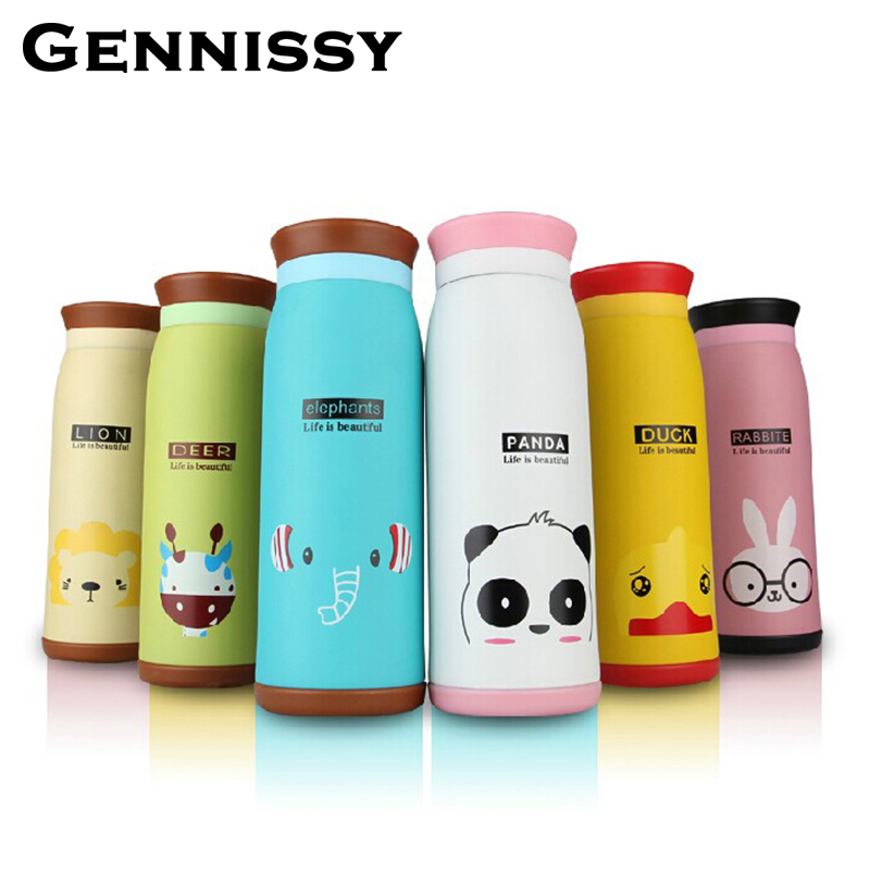 GENNISSY 260ml 350ml 500ml Thermos Cup Thermos Mug Insulated Tumbler Travel Cups Stainless Steel Vacuum Cups