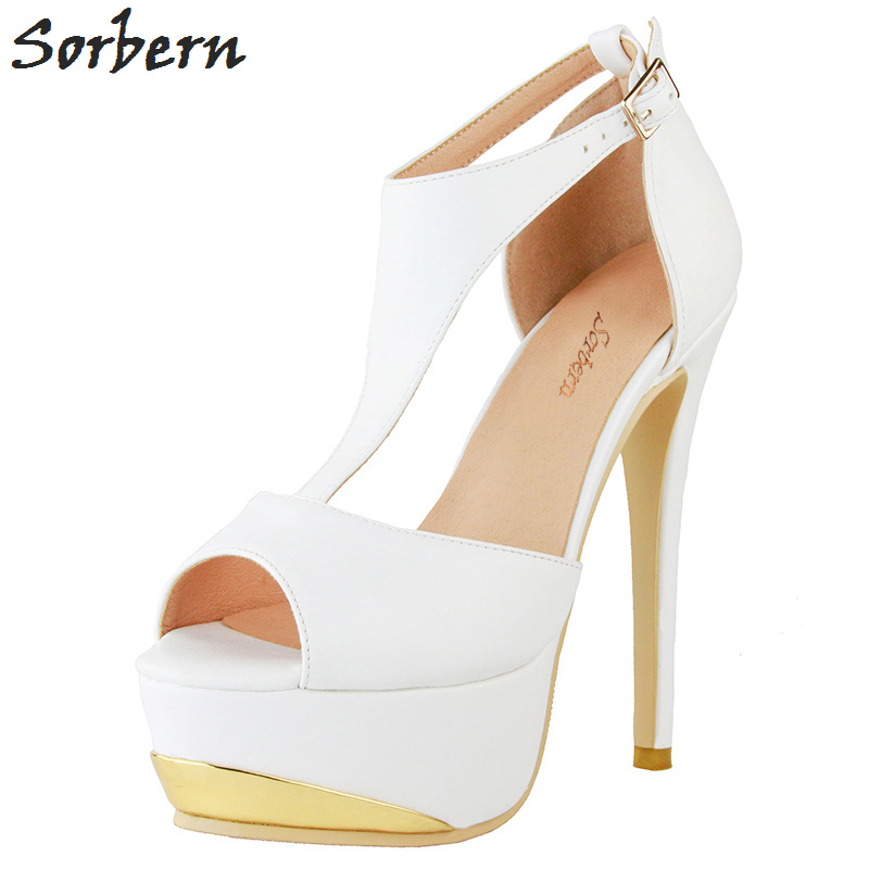 Sorbern Women Pumps 2018 Buckle Strap Bridal Wedding Shoes High Heels Platform Shoes Pumps Women Shoes Plus Size China 34-47Sorbern Women Pumps 2018 Buckle Strap Bridal Wedding Shoes High Heels Platform Shoes Pumps Women Shoes Plus Size China 34-47