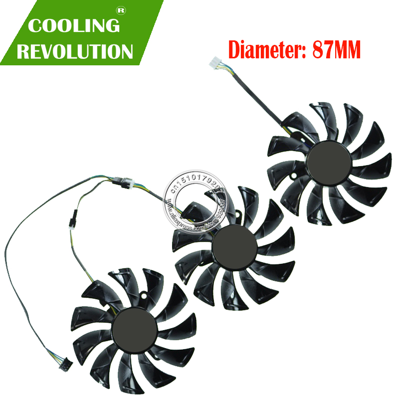 3PCS/lot Original GA92S2U DC12V 0.46A For ZOTAC GAMING GeForce RTX 2080 AMP Graphics Card Cooling Fan