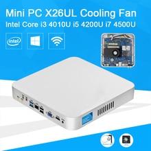 Мини-ПК Core i7 4500U i5 4200U i3 4010U Dual Ядер 3.0 ГГц Windows 10 Мини Настольный Компьютер Office Для Дома ПК Вентилятор Охлаждения