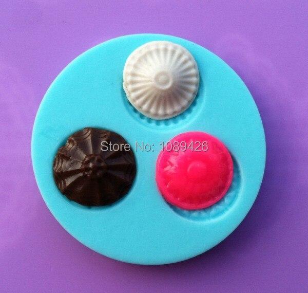 Commercio all'ingrosso 10 pz/lotto 3 D stampo in silicone, rotondo forme torta di cioccolato candy jello decorazione silicone strumenti mold trasporto libero