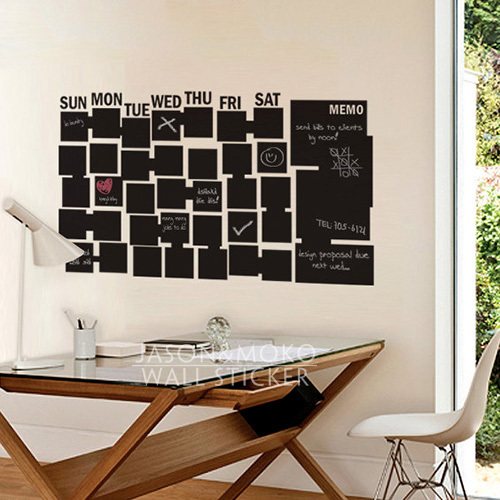 cool wall stickers home office wall. Chalkboard Wall Decal - Calendar For Your Home / Office Stickers Decoration 60cmX105cm Free Shipping Cool A