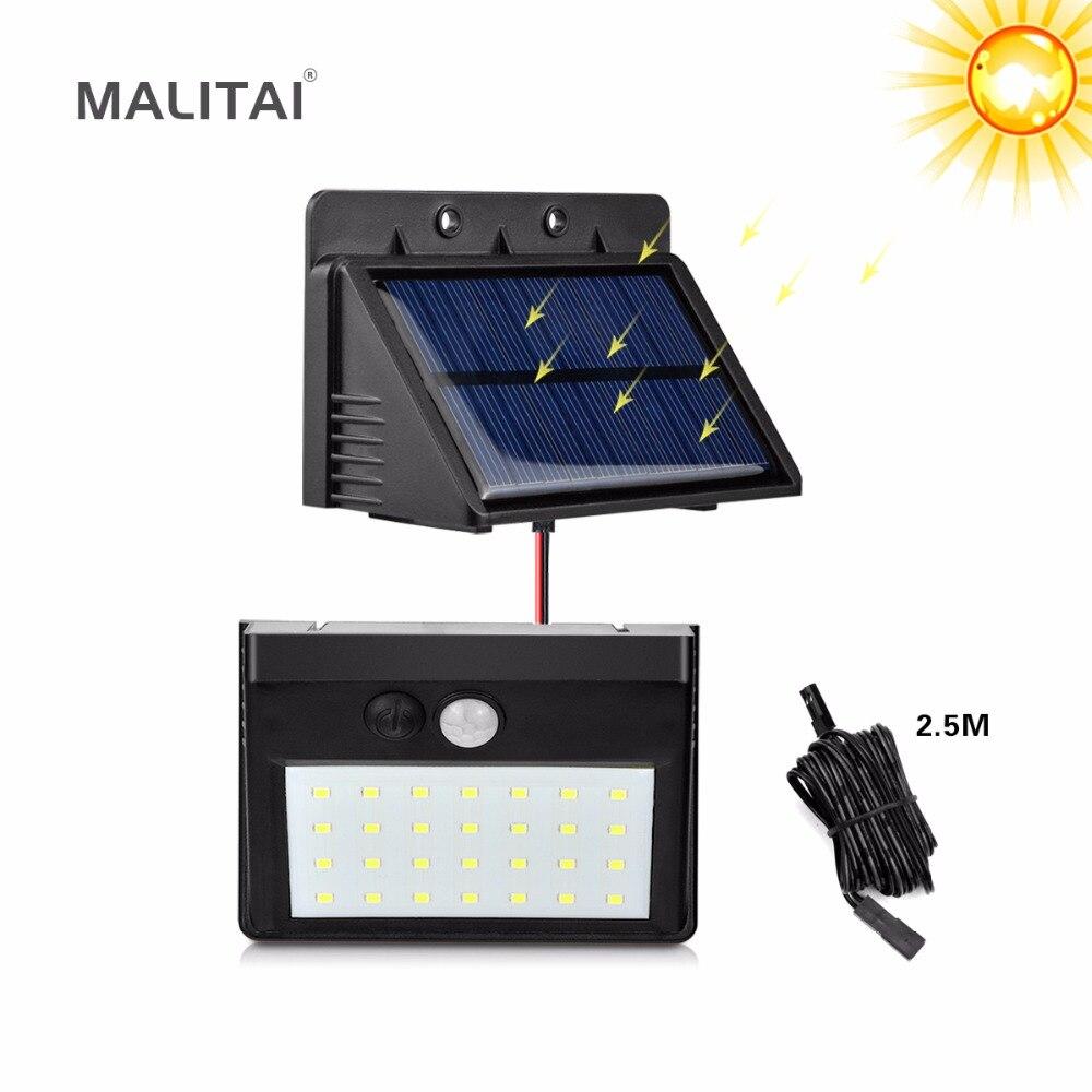 Separable Solar Panel LED lamp PIR Motion Sensor 28 LED Solar light Outdoor Indoor Waterproof Night Security Garden Path light