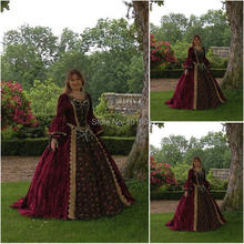 1860 S Victorian Gothic Corset/Civil War Southern Belle Bóng Gown Dress Halloween Váy dresses CUSTOM MADE R-072(China)
