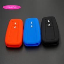 Xinyuexin для Toyota CHR C HR, силиконовый резиновый автомобильный чехол для брелка с ключом, набор ключей, чехол для автомобиля, Стайлинг, 2 кнопки