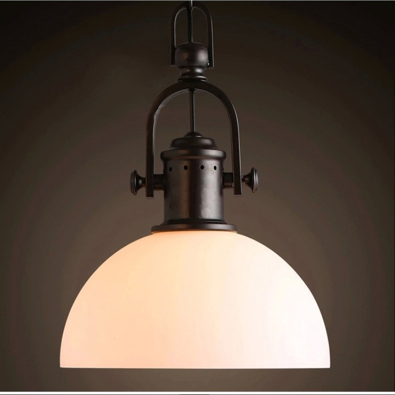 Retro Loft Northern Europe Creative Concise Glass Pendant Light Cafe Bar Restaurant Decoration Lamp Free Shipping free shipping high quality glass steam pipe head mirror lamp loft northern europe american vintage retro wall lamp e27