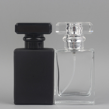 Spray-Dispensing Empty-Bottle Cosmetics Portable And Clear Black 30ML 50pcs/Lot Square