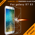 Only 0.26mm Tempered Glass Film For Samsung Galaxy E7 E700 2.5D Arc Edge 9H Hard Glass Screen Protector Film For Samsung E5 E500