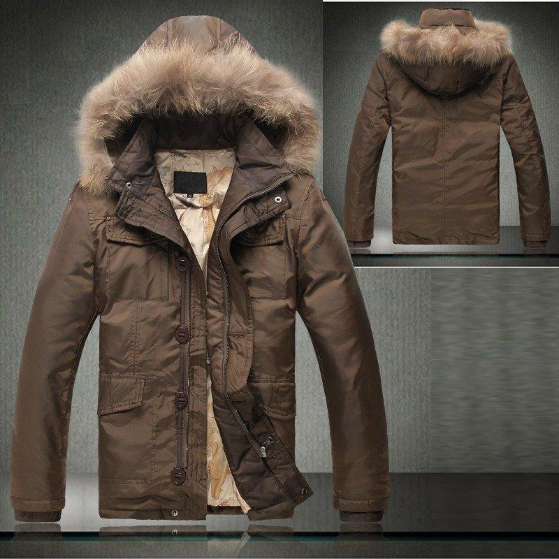 2013 Autumn Winter Mens Warm 90% Duck Down Jacket Coat With Fur ...