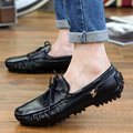 2015 Hot sale summer men's leather loafers slip on sport driving boats shoes fashion casual breathable moccasins flats