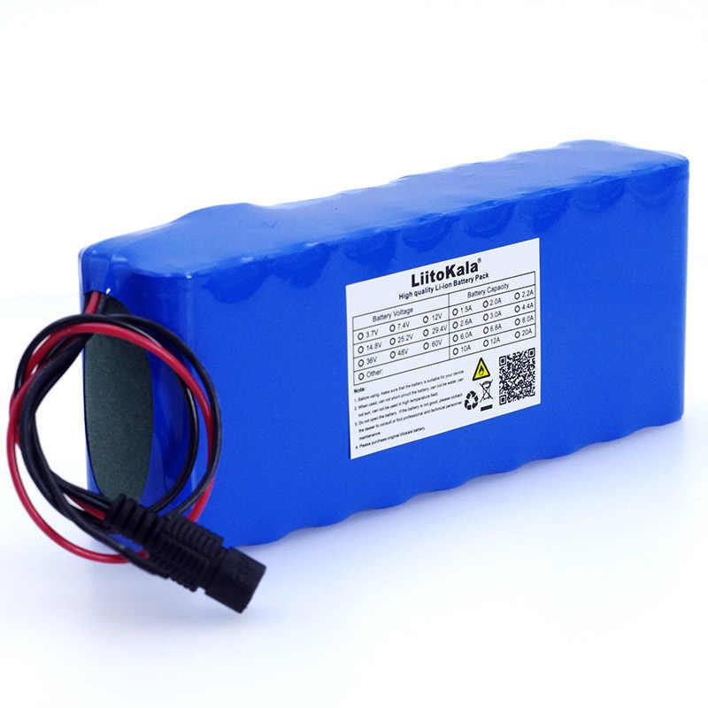 LiitoKala 12 v 12A 18650 литиевая батарея 12000 mAh Емкость литиевая батарея включая защитную пластину + 12,6 v 3A зарядное устройство