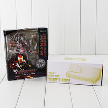 Color box SHFiguarts The Iron Man Mark 43 with Tony's Sofa PVC Action Figure Collectible Model Toy Bonus Gift