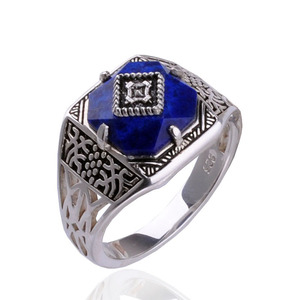 Image 1 - ไดอารี่แวมไพร์แคโรไลน์แหวนS925แหวนเงินสเตอร์ลิงบริสุทธิ์Sliver Carolineแหวนผู้หญิงเครื่องประดับLapis Lazuliหิน