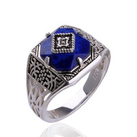 The Vampire Diaries Caroline Ring 925 sterling Ring Pure Silver Caroline Ring Women's Jewelry Lapis Lazuli Stone