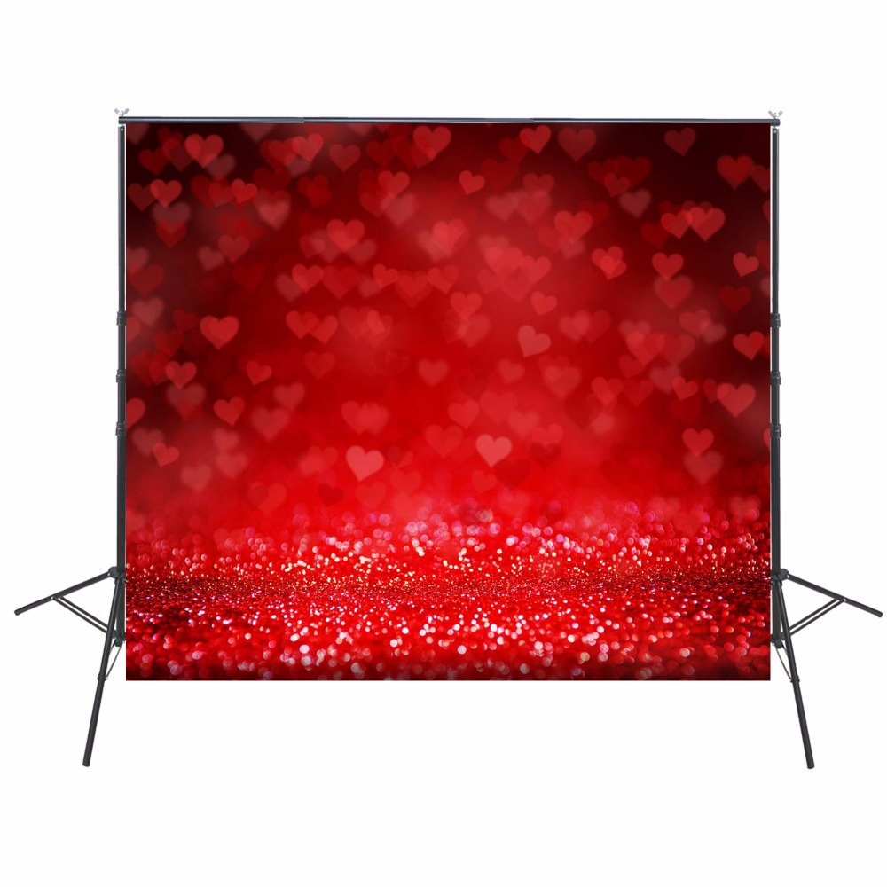 2017 Hot Red Heart Photography Backgrounds Sparkle Photo Backdrops Camera Fotografica Children Backgrounds For Photo Studio ashanks photography backdrops solid screen 1 8m 2 8m backgrounds porta retrato for camera fotografica photo studio