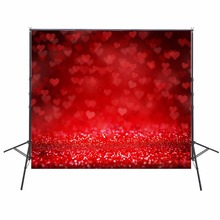 2017 Hot Red Heart Photography Backgrounds Sparkle Photo Backdrops Camera Fotografica Children Backgrounds For Photo Studio