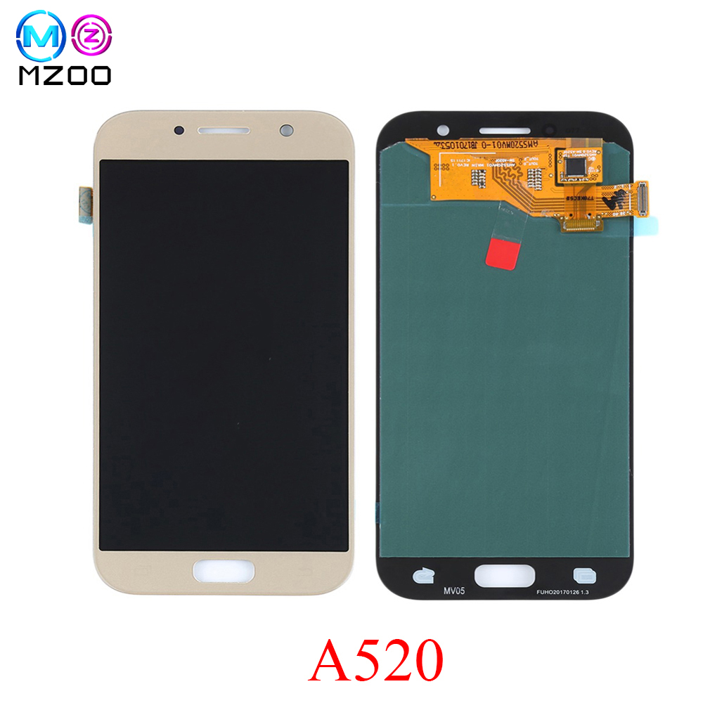 A520 Super AMOLED Phone LCDs For SAMSUNG GALAXY A5 2017 Tela A520 A520F SM-A520F Display Touch Screen Digiziter Assembly PartsA520 Super AMOLED Phone LCDs For SAMSUNG GALAXY A5 2017 Tela A520 A520F SM-A520F Display Touch Screen Digiziter Assembly Parts