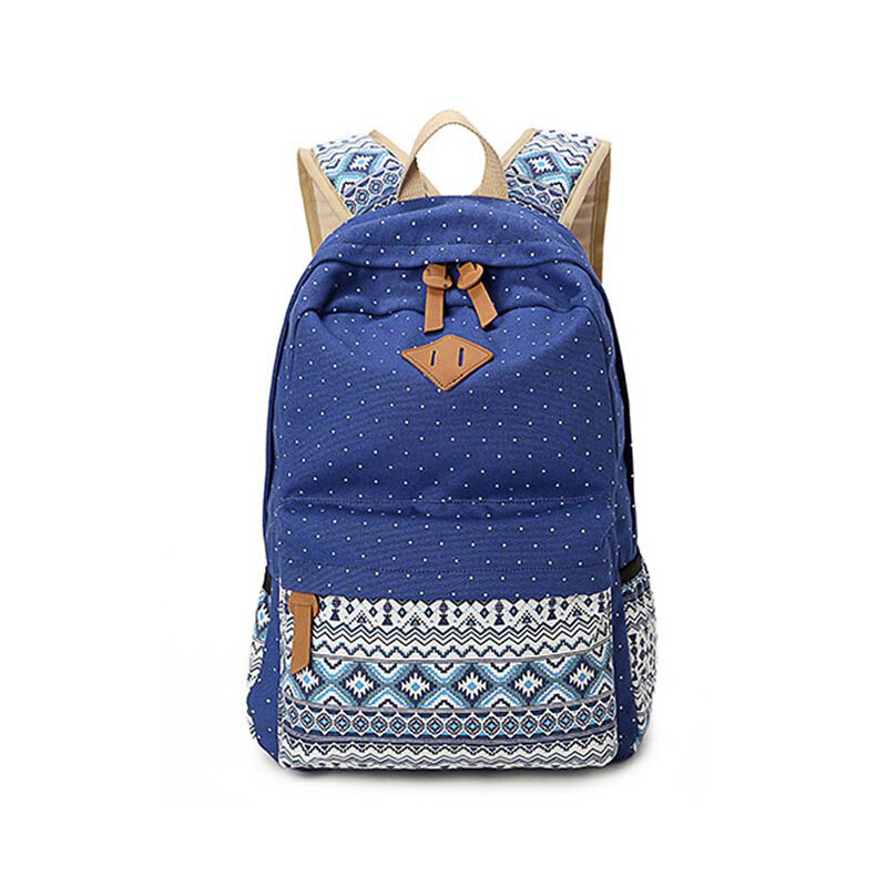 Hot 2017 Women Fashion Cute Shoulder Bag Canvas Backpacks School Bags for Girls Ladies Student Travel