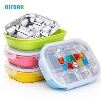 Hifuar Double Layer Lunch Box 304 Stainless Steel Hot Water Insulation Sealed Bento Box Students Office