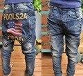 В розницу детская флага джинсы весна мальчиков большой п . п . джинсы высокое качество детские брюки осень дети ковбои брюки