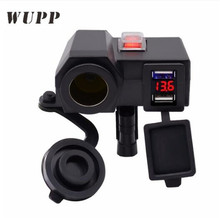 WUPP High Quality Universal Charger USB Vehicle DC 12V-5V Waterproof Dual 2 Port Power Socket 5V 3.1A