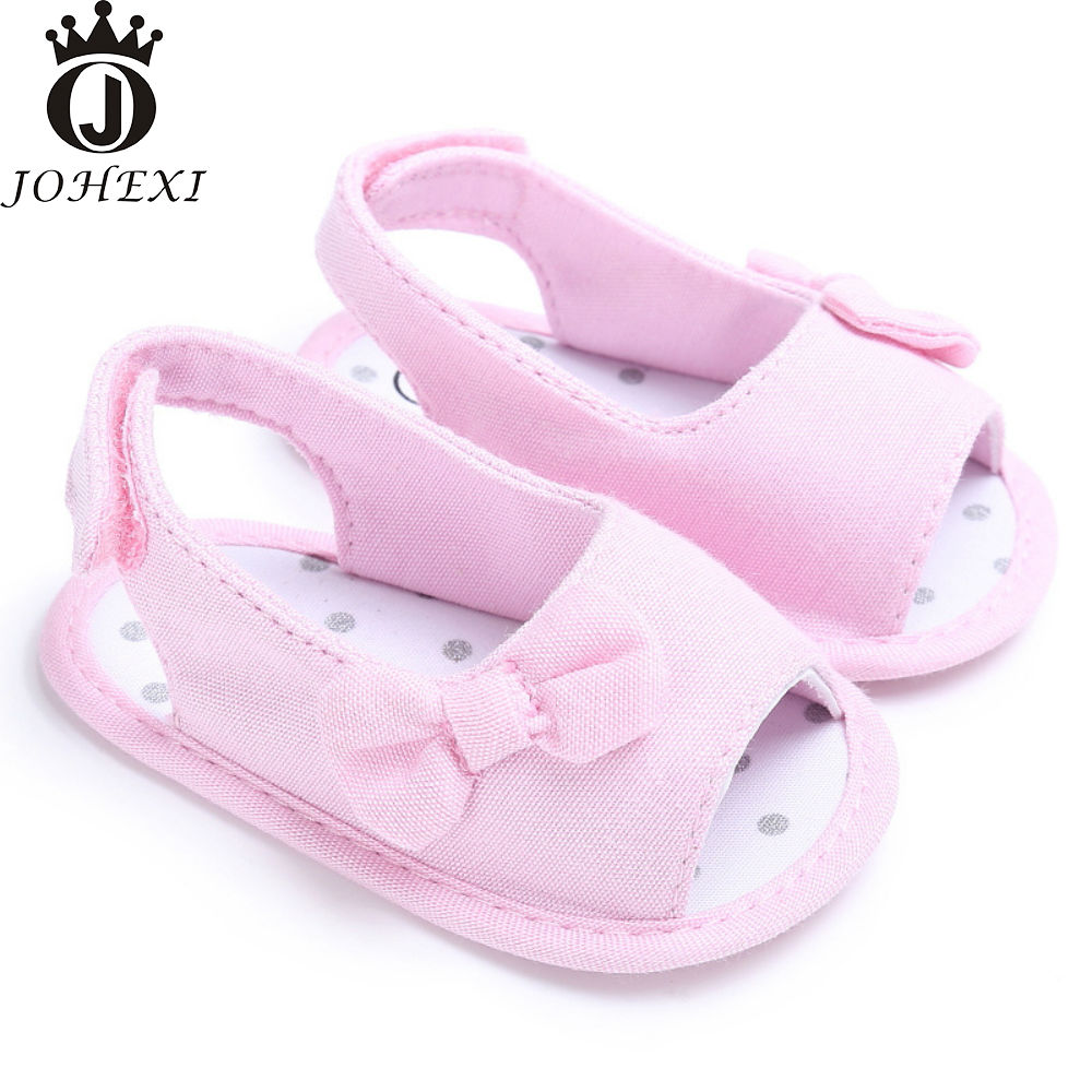 Black newborn sandals - 2017 Summer Fashion Party Girl Baby Sandals Newborn Baby Shoe Infant Toddler Breathable Soft Yellow Pink White Black Gray11 13cm