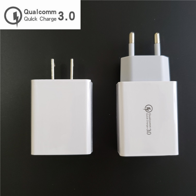 Quick Fast Charger QC3 0 QC2 0 USB charger Adapter 18W Portable Wall Charger EU US