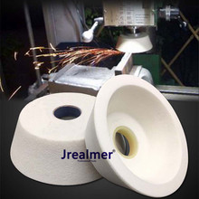 Jrealmer 1pcs Cup-shaped Dia70/100/125mm White corundum grinding wheel high quality White corundum