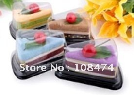 20pcs/lot Cake towel Drop shipping Wholesale Retail Sandwich Gift Promotion Craft Decoration