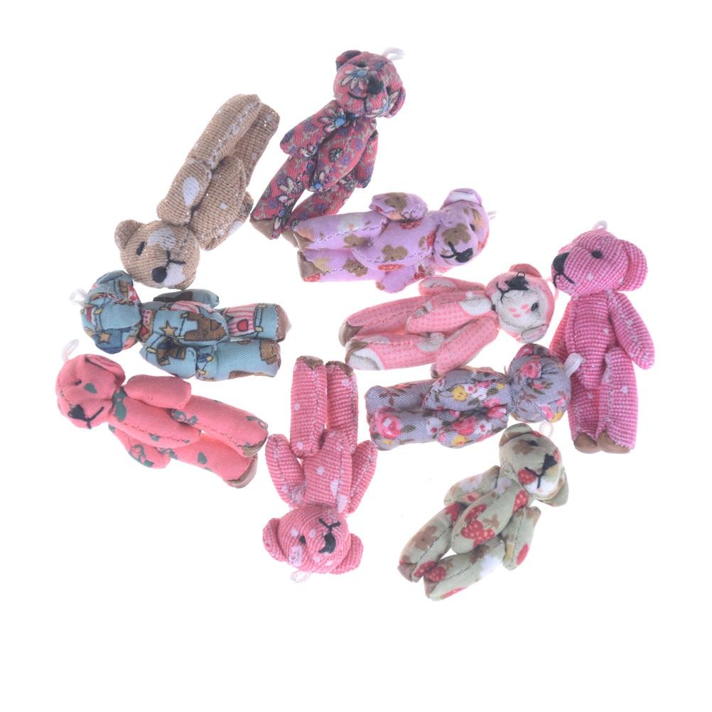 5pcs Mini Kids Cartoon toys Christmas gifts Couple Gifts Joint Bear ...