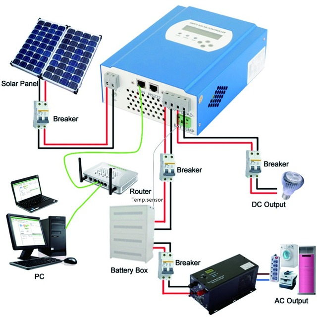 aliexpress com   buy 48v 20a mppt solar charge controller