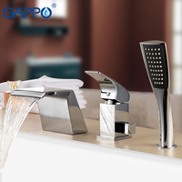 GAPPO Bathtub faucet waterfall bathroom mixer faucet deck mounted shower tap bath taps rainfall shower sets stainless spouts