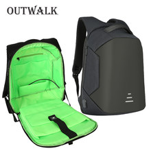 OUTWALK Smart Travel Antitheft Backpack USB Bagpack 16inch Laptop Backpacks for Women 2018 Men Student Backpack Bag Male Mochila(China)