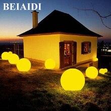 Светодиодный светильник BEIAIDI для сада, 7 цветов, RGB, с питанием от солнечной батареи