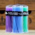 Hot 50 unids/pack hisopo de algodón desechable extensión de pestañas Micro Individual aplicadores hogar rimel cepillo de algodón suave hisopo segura