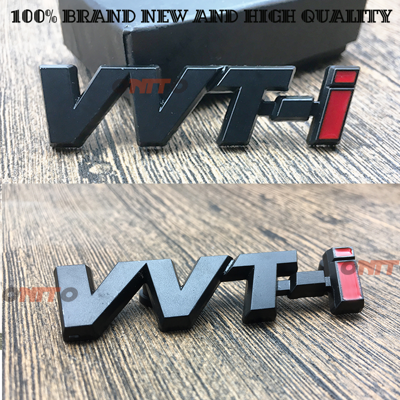 Car Styling ABS VVTI 3D Logo Trunk Badge Fender Emblem VVT-I Sticker For Toyota Corolla Camry Highlander RAV4 door side decal