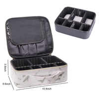Impressão de mármore à prova dwaterproof água saco cosmético feminino viagem compõem organizador saco grande capacidade caso multifuncional para maquiagem
