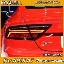 KOWELL Luz LED trasera para coche AUDI A7, luces de señal de giro y freno de estacionamiento, 2011, 2012, 2013, 2014, 2015