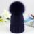 Pompón de Piel de invierno Sombrero Para Las Mujeres de Lana de Cachemira de Algodón Sombrero Grande Bobble Pompom Gorros Gorra de Piel de Zorro de piel de Mapache Real Sombrero HotSale