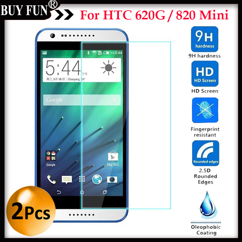 2PCS For HTC Desire 620 G 620G 820 Mini screen protector tempered glass cover For htc desire 620G dual sim 5.0inch Glass case