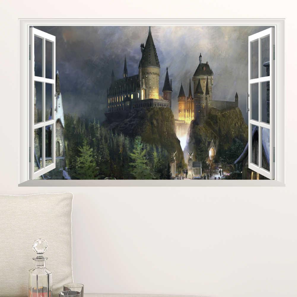 ハリーポッターポスター 3d 窓装飾ホグワーツ装飾壁ステッカー
