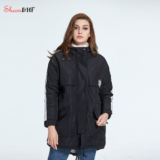SheonDHF Ladies Coats Jackets Winter 2017 Female Cotton Hooded ...