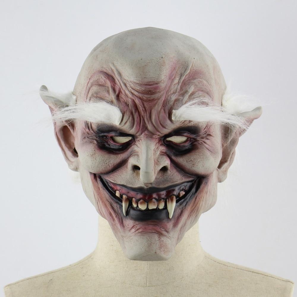 Halloween Masker.1 Pcs Putih Off Siluman Tua Halloween Masker Horror Devil
