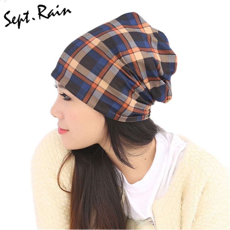 unisex plaid scarf hat womens winter hats and